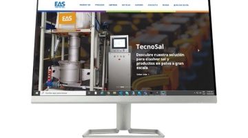Photo of the new website Home of EAS Escarre, specialists in process automation in dyeing and textile finishing companies.
