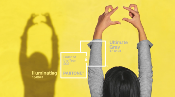 Pantone Color 2021: Ultimate Gray and Illuminating, two independent colors responsible for setting trends in fashion and textiles with a hopeful message.